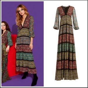 """Alice and Olivia """"Karolina Paneled Maxi Dress"""""""